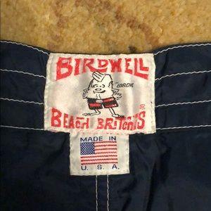 Vintage Birdwell Beach Britches Swim Trunks USA 34 Waist